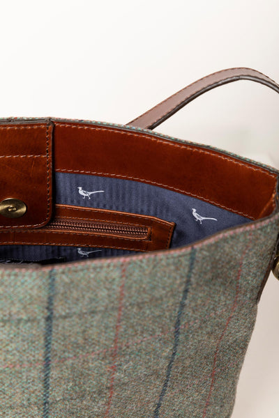 Blue Check - Middleham Tweed Bucket Bag