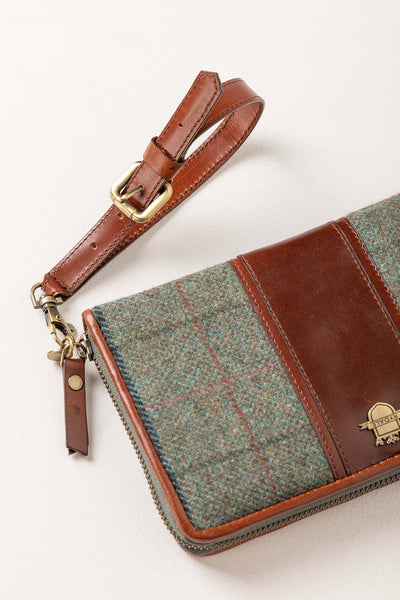 Blue Check - Middleham Tweed Clutch Purse