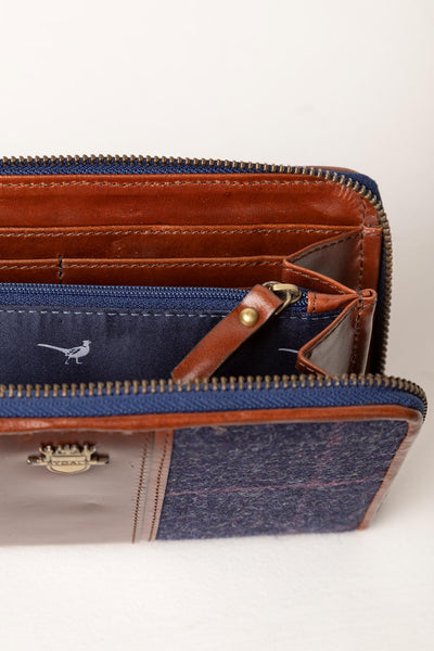 Navy - Middleham Tweed Clutch Purse