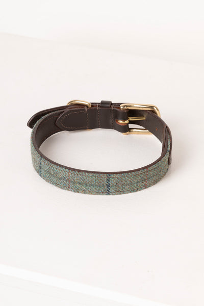 Blue - Middleham Tweed Dog Collar
