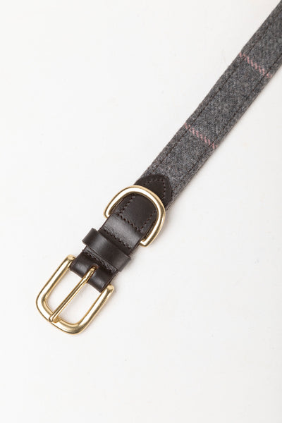 Grey Tweed - Tweed Dog Collar - Middleham