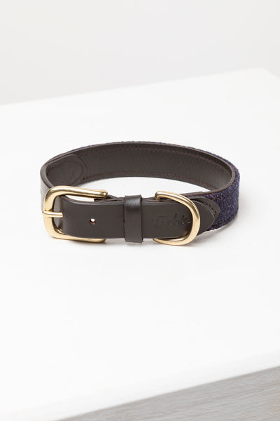 Navy Tweed - Tweed Dog Collar - Middleham