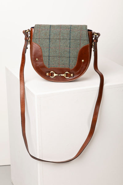 Blue Check - Middleham Tweed Saddle Bag