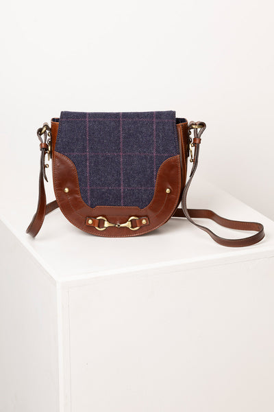 Navy - Middleham Tweed Saddle Bag