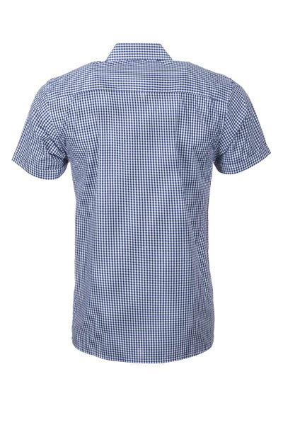 Millington Blue - Short Sleeved Country Check Shirts