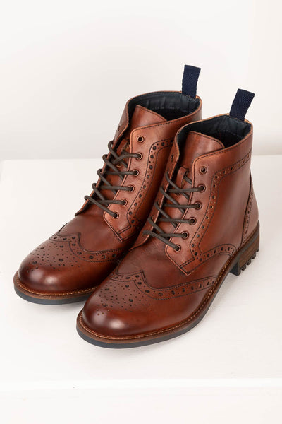 lace up brogue boots uk