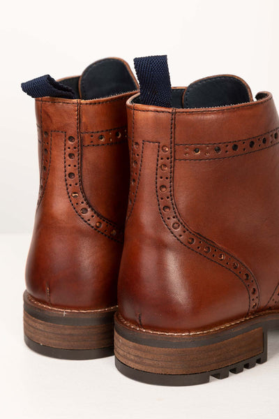 Antique - Millington Brogue Lace Up Boots