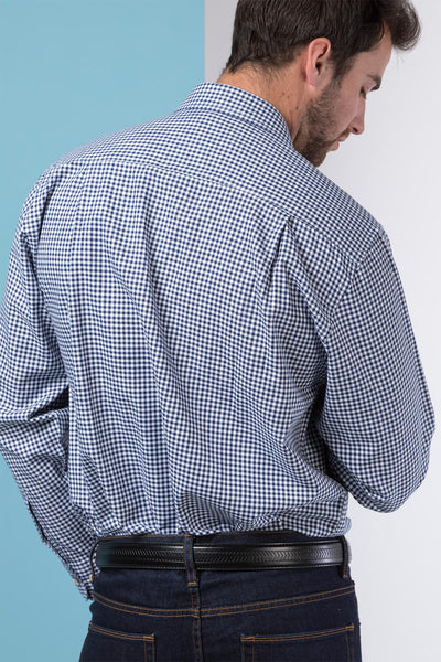 Millington Blue - Mens Classinc Long Sleeved Shirts