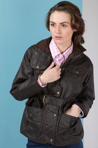 Brown - Rydale Women's Wax Jacket