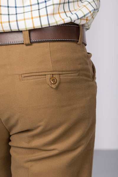 Sand - Rydale Moleskin Trousers for Men