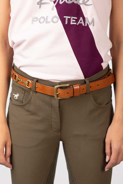 Tan - Molly Snaffle Leather Belt