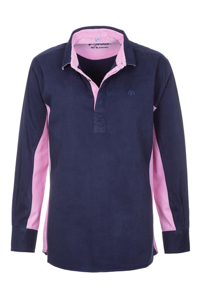 Navy/Pink - Ladies Muston Deckshirt