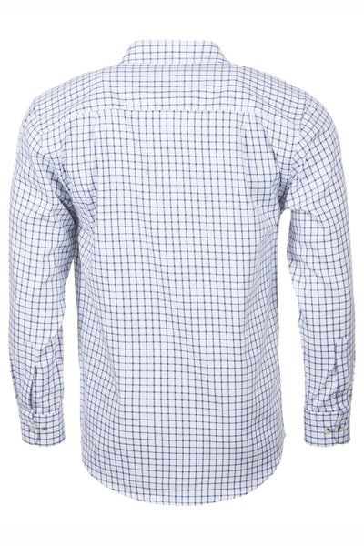 Richmond Navy/white - Long Sleeved Country Check Shirt
