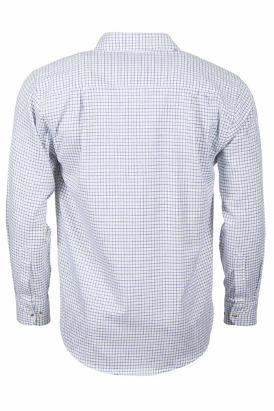 Market Dark Navy - Mens Long Sleeved Check Shirts