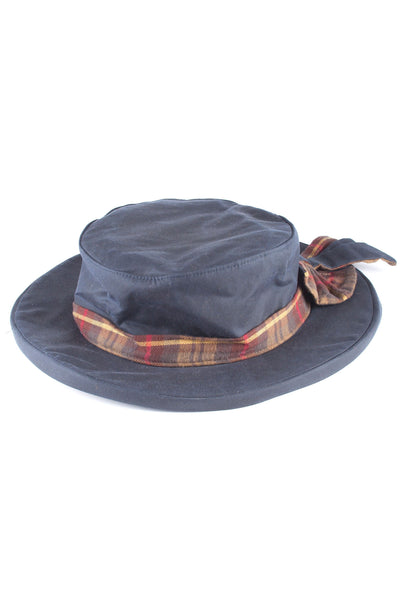 Navy - Ladies Waxed Cotton Dress Hat