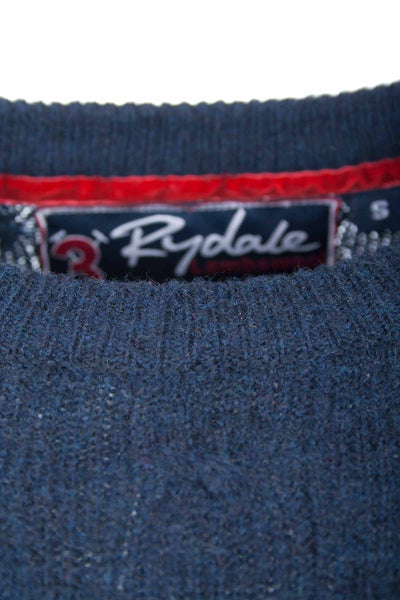 Navy - Rydale UK Crew Neck Cable Knit Sweater