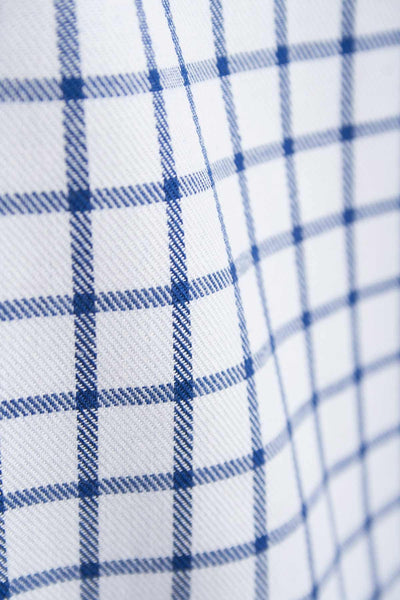 Richmond Navy/white - Navy Blue Check Shirt