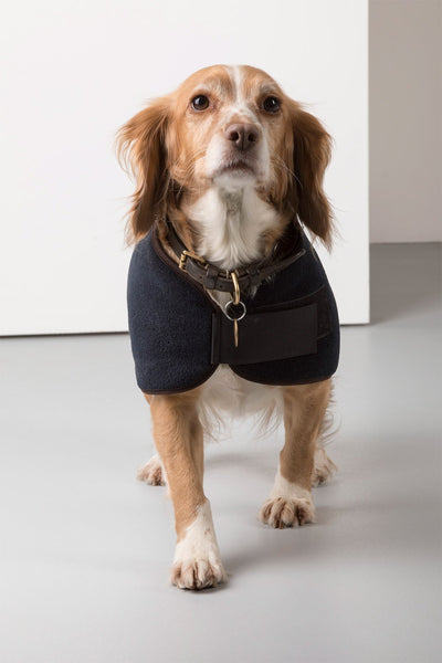 Navy - Rydale Fleece Dog Coat