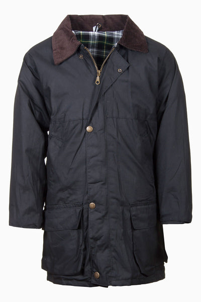 Navy - Junior Classic Wax Jacket