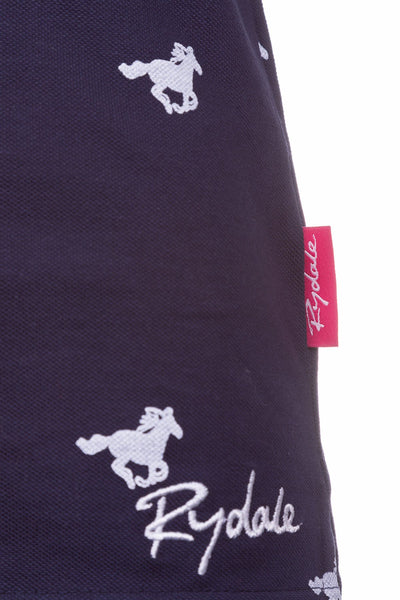 Horse Navy II - Ladies Limited Edition Navy Polo Shirt