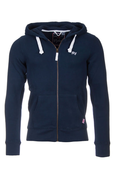 Navy - Rydale Mens Full Zip Hoody