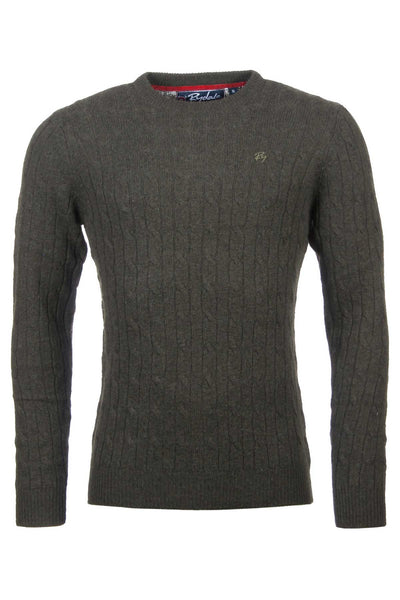Dark Olive - Mens Classic Crew Neck Sweater