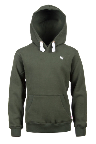 Olive - Plain Green Childrens Hoody