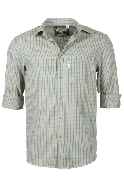 Poacher Olive - Mens 100% Cotton Long Sleeved Shirt