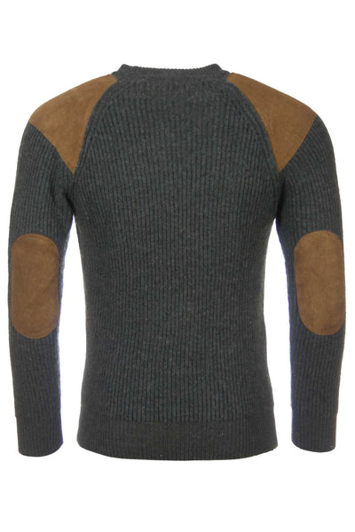 Olive Pheasant - Green Chunky Knit Jumper