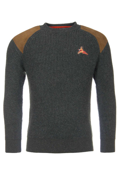 Olive Pheasant - Chunky Knit Shooting Sweater