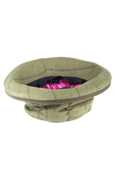Olive / Pink - Ladies Tweed Dress Hat