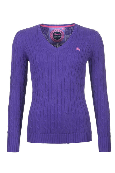 Orchid - V Neck Cable Knit Sweater