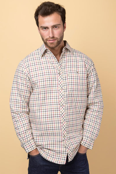 Sledmere Red - Padded Country Shirt