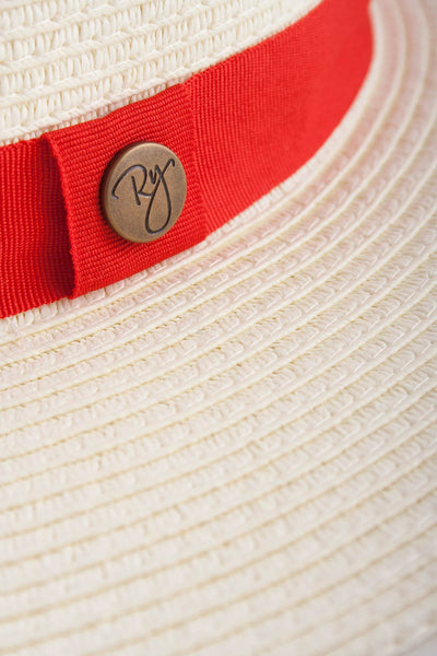 Red - Panama Hat