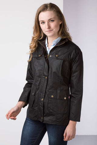 Wax Jacket with Elasticated Back
