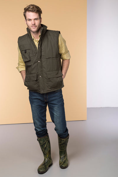 Olive - Thick Green Fishing Vest