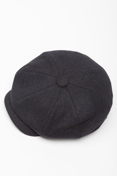Black - Rydale Peakie Baker Boy Hat