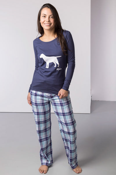 Blue Check/Country Dog - Peggy Pyjama Set