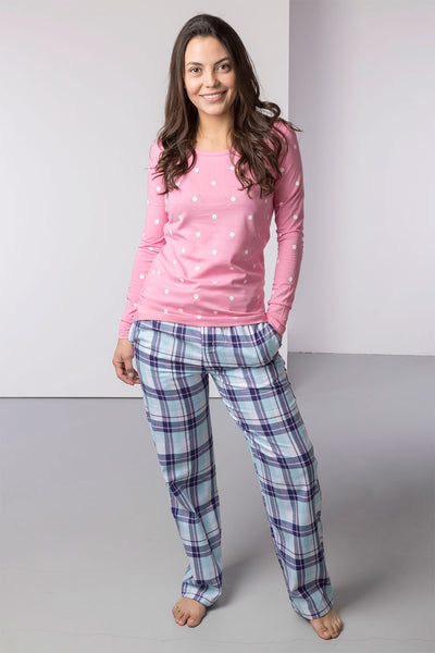 Blue Check/Polka Dot - Peggy Pyjama Set