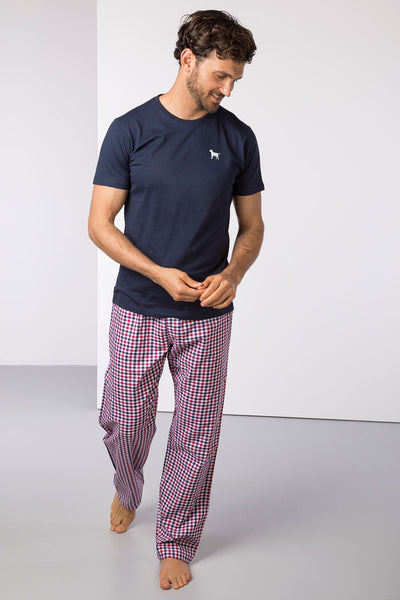 Richmond Red/Navy - Mens Percy Pyjama Set