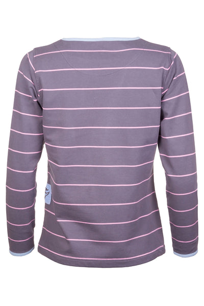 Cool Grey - Pinstriped Sweatshirt
