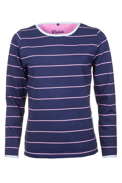 Navy - Pinstriped Sweatshirt
