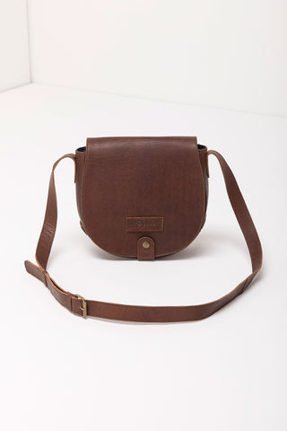 Pippa Leather Saddle Bag