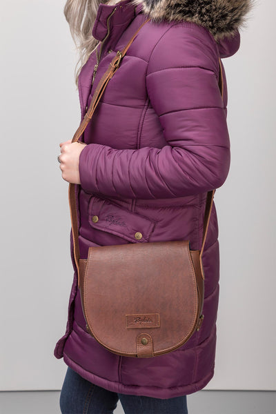 Brown - Pippa Saddle Bag Leather