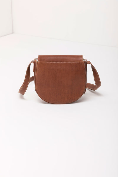 Tan - Pippa Saddle Bag Leather