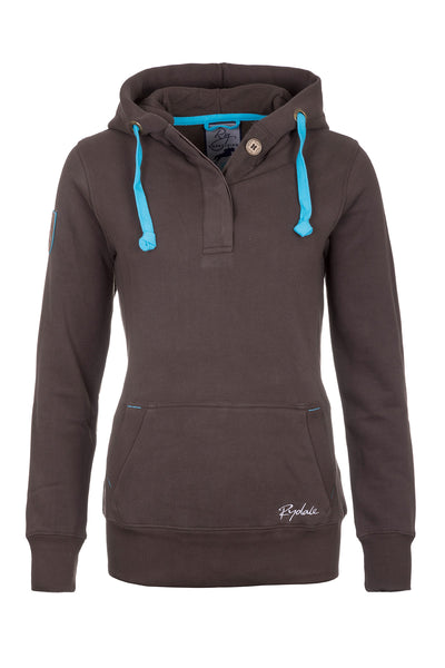 Bark - Ladies Button Neck Hoody Plain