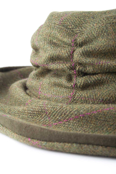 Plum Check - Ladies Tweed Dress Hat