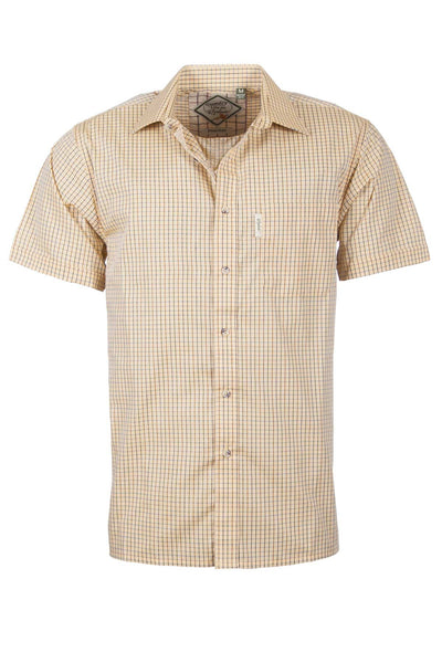 Poacher Gold - Mens Easy Care Short Sleeved Shirt