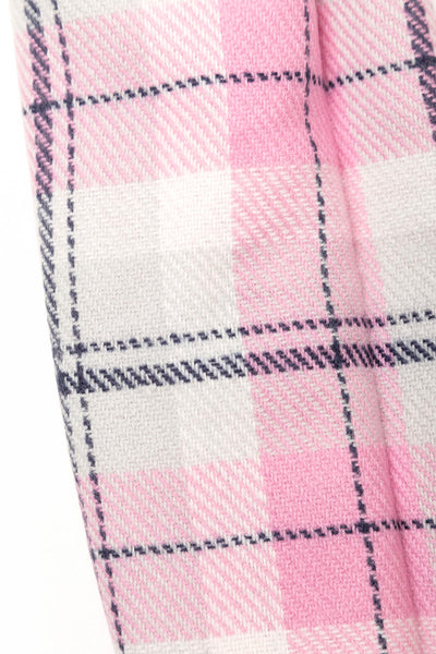 Pink - Polly Checked Scarf