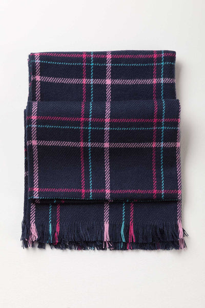 Navy - Ladies Polly Checked Scarf